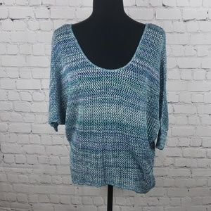 August Silk Mesh Sweater.
